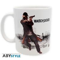 Service Petit Dejeuner Watch Dogs - Mug Aiden shooting - 320 ml - Ceramique - Avec boite