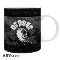 Service Petit Dejeuner Watch Dogs 2 - Mug - Black et White - 320 ml - Ceramique - Avec boite