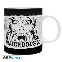 Service Petit Dejeuner Watch Dogs 2 - Mug - Dedsec BD - 320 ml - Ceramique - Avec boite