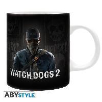 Service Petit Dejeuner Watch Dogs 2 - Mug - Marcus - 320 ml - Ceramique - Avec boite