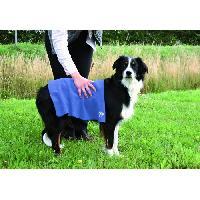 Serviette - Peignoir Serviette 50 cm D60 cm bleu pour chien - Trixie - Generique