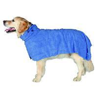 Serviette - Peignoir TRIXIE Peignoir de bain M- 50 cm bleu pour chien
