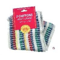Serviettes et Tampons 2 Chiffons multi usages - 32x32 cm