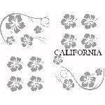 Set Adhesifs -ELEMENT CALIFORNIA- Gris - Car Deco - ADNAuto