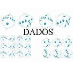 Set Adhesifs -ELEMENT DADOS- Bleu - PROMO ADN - Car Deco Generique
