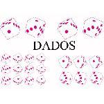 Set Adhesifs -ELEMENT DADOS- Rose - PROMO ADN - Car Deco