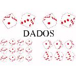Set Adhesifs -ELEMENT DADOS- Rouge - PROMO ADN - Car Deco Generique