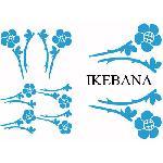Set Adhesifs -ELEMENT IKEBANA- Bleu - PROMO ADN - Car Deco Generique