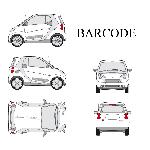 Set complet Adhesifs -BARCODE- Argent - Taille S - PROMO ADN - Car Deco