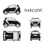Set complet Adhesifs -BARCODE- Blanc - Taille M - PROMO ADN - Car Deco - ADNAuto