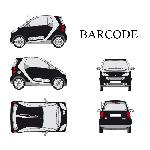 Set complet Adhesifs -BARCODE- Blanc - Taille S - PROMO ADN - Car Deco