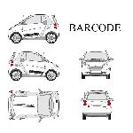 Set complet Adhesifs -BARCODE- Noir - Taille M - PROMO ADN - Car Deco