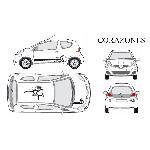 Set complet Adhesifs -CORAZONES- Noir - Taille M - Car Deco - ADNAuto