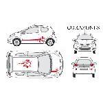 Set complet Adhesifs -CORAZONES- Rouge - Taille M - Car Deco Generique