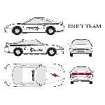 Set complet Adhesifs - DRIFT - Full Color - Taille M - Car Deco Generique