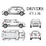 Set complet Adhesifs -DRIVERS CLUB- Noir - Taille M - PROMO ADN - Car Deco Generique