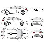 Set complet Adhesifs -GAMES- Taille M - Car Deco