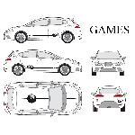 Set complet Adhesifs -GAMES- Taille S - Car Deco Generique