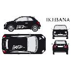 Set complet Adhesifs -IKEBANA- Blanc - Taille M - PROMO ADN - Car Deco - ADNAuto