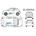 Set complet Adhesifs -IKEBANA- Bleu - Taille M - PROMO ADN - Car Deco - ADNAuto