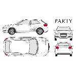Set complet Adhesifs -PARTY- Argent - Taille M -PROMO ADN - Car Deco