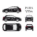 Set complet Adhesifs -PURA VIDA- Blanc - Taille M - Car Deco Generique