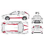 Set complet Adhesifs -RS- Rouge - Taille M - Car Deco