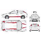 Set complet Adhesifs -RS- Rouge - Taille M - Car Deco Generique