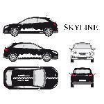 Set complet Adhesifs -SKYLINE- Blanc - Taille M - PROMO ADN - Car Deco Generique