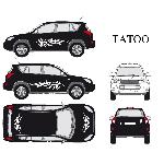 Set complet Adhesifs -TATOO- Blanc - Taille M - PROMO ADN - Car Deco Generique