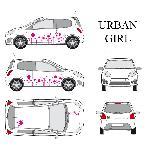 Set complet Adhesifs -URBAN GIRL- Rose - Taille M - Car Deco Generique