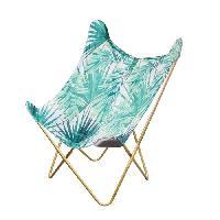 Siege - Assise BIRDY Fauteuil Papillon - Tissu Imprime Jungle - L 74 x P 79 x H 101 cm Aucune