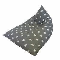 Siege - Assise Berlingot STAR Coton Gris anthracite - 75x85xH75cm Aucune