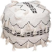 Siege - Assise Pouf en coton - L. 45 x l. 45 x H. 45 cm - Blanc