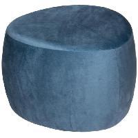 Siege - Assise Pouf galet Bloom velours - Bleu