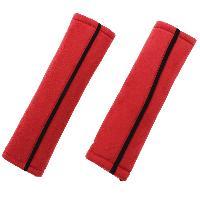 Sieges & harnais 2 Fourreaux rouges de ceinture de securite Carplus