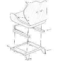 Sieges & harnais Kit de fixation specifique pour Ford Escort Sierra - gauche OMP