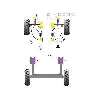 Silent blocs 2x Silent-Blocs compatible avec triangle Fiat Uno - AV