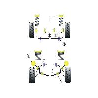 Silent blocs 2x Silent-Blocs de Barre Anti-Roulis pour Ford Sierra - D 24mm