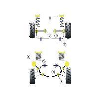 Silent blocs 2x Silent-Blocs de Barre Anti-Roulis pour Ford Sierra - D 26mm