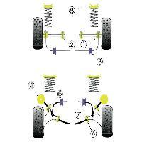 Silent blocs 2x Silent-Blocs de Barre Anti-Roulis pour Ford Sierra Cosworth - AR