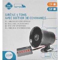 Sirene D'alarme - Flash D'alarme Sirene 6 tons 12V Htc