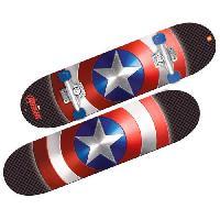 Skateboard - Shortboard - Longboard - Pack CAPTAIN AMERICA - Skate Board - Enfant - Garcon - A partir de 3 ans