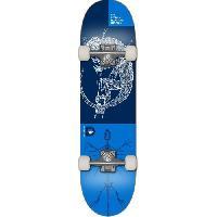 Skateboard - Shortboard - Longboard - Pack DEMENTED Skateboard Reptilian - Mixte - Bleu