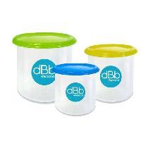 Soin Bebe DBB REMOND Trio boîtes de conservation : 1 vert 500ml / 1 moutarde 300ml / 1 bleu 190ml