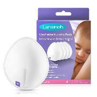 Soin Maman LANSINOH - Coussinets d'allaitement lavables x4 - Pour un confort & une protection maximale de jour comme de nuit