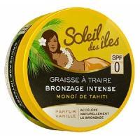 Solaires SOLEIL DES ILES Graisse a traire Bronzage intense - SPF 0 - Vanille - 150 ml - Generique