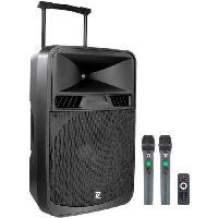 Sono - Dj BOOMTONEDJ MOBILE 15 UHF - Sono portable haut de gamme sur batterie - 700W - HP de 15 - 2 micros sans fil UHF