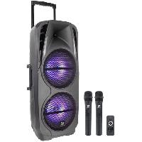 Sono - Dj BOOMTONEDJ TRAVELER DOUBLE 10 - Sono portable ultra légere - 600W - 2 HP de 10 - Bluetooth - 2 micros sans fil VHF - Compacte