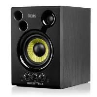 Sono - Dj HERCULES DJMONITOR 42 - Enceintes DJ - 2 x 20W RMS - 80W Peak Power - Woofer de 4 pouces - Caisson en bois MDF